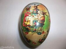 Vintage German Paper Mache EGG Candy Container BUNNY Tea Party Easter Eggs