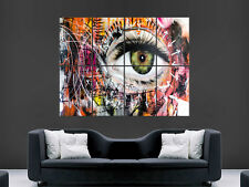 GRAFFITI POSTER WALL EYE STREET BANKSY STYLE STYLE WALL ART PICTURE GIANT LARGE