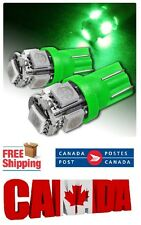 2pcs 5SMD Green LED T10 194 158 168 912 Map Dome License Plate Light Bulb
