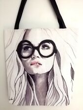 NEW! Gorgeous Fashion Tote Bag Designer Quality Canvas 18""
