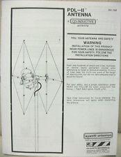 AV-122 PDL-2 CB Beam Base Antenna Assembly Manual - Instruction Booklet