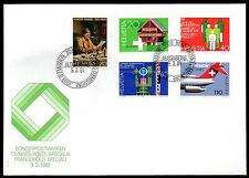 Switzerland - 1981 Events (I) Mi. 1191-95 clean unaddressed FDC