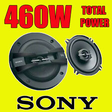 SONY 460W TOTAL 3WAY 5.25 INCH 13cm CAR DOOR/SHELF COAXIAL SPEAKERS BLACK PAIR
