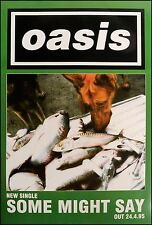 Original litho-printed Oasis tour poster - Some might say