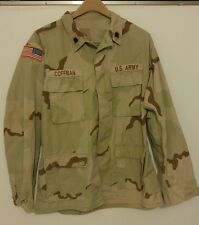 US Army Dessert Camo Combat Uniform Coat Men's Size Medium Long