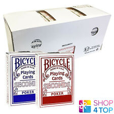 BICYCLE SECONDS STANDARD INDEX 12 DECKS PLAYING CARDS SEALED BOX CASE USPCC NEW