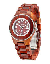 Charme Women Cherry Sandalwood Water Resistant Wrist Watches Natural Wood Style