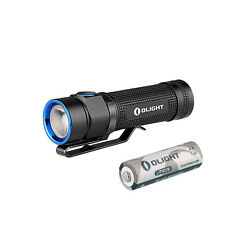 Olight S1A Baton Cree XM-L2 LED 600lms Compact EDC Flashlight Torch + AA Battery