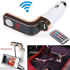 Wireless Handsfree LED FM Transmitter Car Kit Radio MP3 Player USB Charger AUX