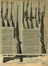1965 PAPER AD Toy Guns Daniel Boone Flintlock Marx Daisy Cap Rifle Johnny Eagle