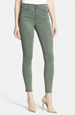 $189 J BRAND JEANS 23110 MARIA SPRUCESTONE GREEN LUXE SATEEN HIGHRISE SKINNY 24