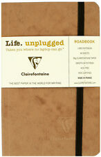 """Clairefontaine Roadbook Notebook 3.5"""" x 5.5"""" Ruled, Tan"""