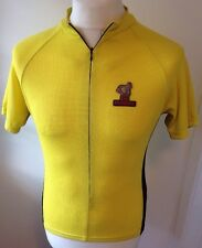 De Marchi Yellow Jersey Cycling Vest Shirt Small Adults Zip Up