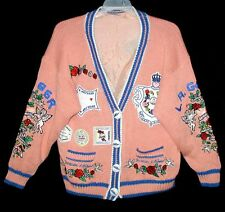 "Vintage ONE-OF-A-KIND Sample Cardigan ""TATTOO ART"" for LA GEAR Pink Hong Kong"