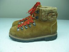 VINTAGE BROWN SEARS SPORT UTILITY LACE UP HIKING TRAIL MOUNTAIN BOOTS 8.5 B