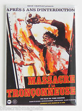 Texas Chainsaw Massacre (France) FRIDGE MAGNET (2 x 3 inches) movie poster