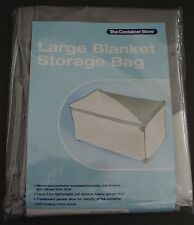 The Container Store Large Grey Blanket Storage Bag 35-1/2 x 20-3/4 x 18 h H#3