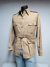 VTG LL Bean Belted safari style four button jacket Size 40