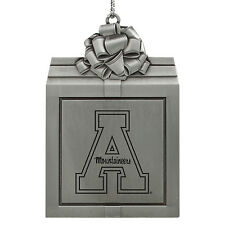 Appalachian State University -Pewter Christmas Holiday Ornament-Silver