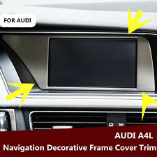For Audi A4 B8 2013-2015 Interior Dashboard Navigation GPS Frame Cover Trim 1pc