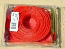 43' Ft Flex Braided Hose Wire Cable & Line Cover Sleeving Kit w Heat Shrink Red