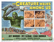 THE CREATURE WALKS AMONG US LOBBY TITLE CARD POSTER 1956 JEFF MORROW