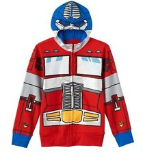 TRANSFORMERS Hoodie NeW Boy's size 7 Zip-Up Optimus Prime Costume Jacket NWT