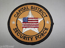 VINTAGE POLICE COPS  PATCH NEW YORK CAPITAL DISTRICT SECURITY FORCE
