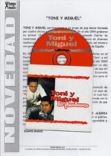 "TONI Y MIGUEL ""TU PICADURA"" PROMO CD SINGLE + SPANISH PRESS NOTE / JOSEP LLADO"
