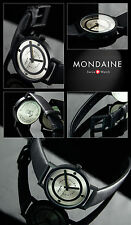 "MONDAINE SWISS MADE ""FORM FOLLOWS FUNKTION"" HOMMAGE TO WALTER GROPIUS, SCHWARZ P"