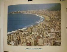 Orig Pan Am/Pan American Travel Poster/Picture-1964-Rio de Janeiro, Brazil