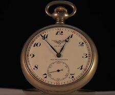 "ANTIQUE SWISS POCKET WATCH OPEN FACE RAILROAD ""ZENITH""GRAND PRIX PARIS 1900"