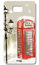 CUSTODIA COVER CASE CABINA TELEFONO LONDRA RED PER SAMSUNG GALAXY ALPHA SM-G850F