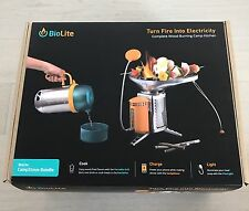BioLite CookStove Bundle Grill, Cook, Boil & Charge 30hrs Cooking Camping Stove