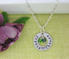 Personalized 2 Name Birthstone Necklace Ideal Mum Grandma Gift