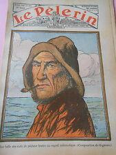 Une belle tête rude de pêcheur Breton au regard mélancolique Print 1936