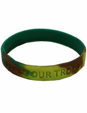 Support Our Troops Wristband Army Green Bracelet New