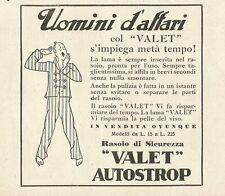W0813 Rasoio di sicurezza VALET AUTOSTROP - Pubblicità 1932 - Advertising
