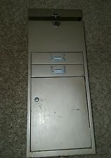 Vintage  Mid Century Industrial Metal File Cabinet Steampunk 2 Drawer & shelf **