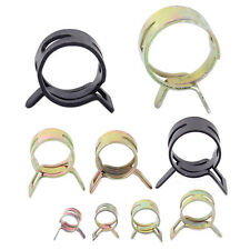 90x Fuel Hose Pinch Spring Band Clip Water Pipe Clamp Vacuum Hose Clamp 9 Sizes
