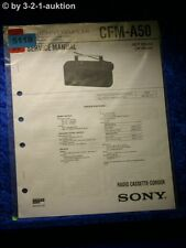 Sony Service Manual CFM A50 Radio Cassette Corder (#5119)