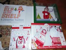 Elf on the Shelf **GIRL*** & Claus Couture chef SET  & GAME DAY Jersey Set NIB