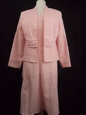 Wearabouts 2 Pc Jacket Dress Gored with Princess Seams Pink Size 16  #2953
