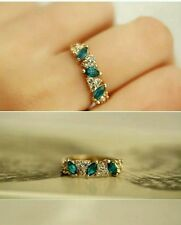 Hot Sales fashion Vintage created gemstone Crystal ring for Women