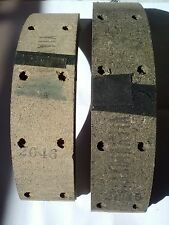 1954 thru 1957 Studebaker Brake Lining Set W/Brass Rivets FMSI #2045D/2046D