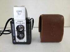 Vintage 1954 Argus Seventy-Five Camera with 75mm Lens and Leather Carrying Case