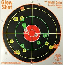 100 Pack - 7 Reactive Splatter Targets - GlowShot - Multi Color - See Your Hits