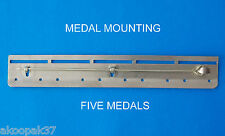 BAR 5 SPACE MEDAL MOUNTING COURT MILITARY MOUNT MEDALS MILITARY BRASS NEW
