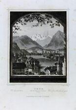 Thun Bern Schweiz Thunersee Aare Schloss Gletscher Glacier Altstadt Kirchturm