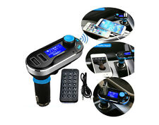 BLUETOOTH AUTO TRASMETTITORE FM Musica MP3 KIT RADIO WIRELESS LETTORE CON DUAL USB